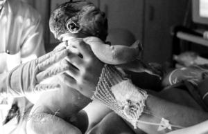 Fotograaf bij bevalling